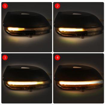 1pair Car Left/Right Side LED Flowing Rearview Mirror Turn Signal Light for VW Passat Jetta E0S CC Beetle Указатель поворота