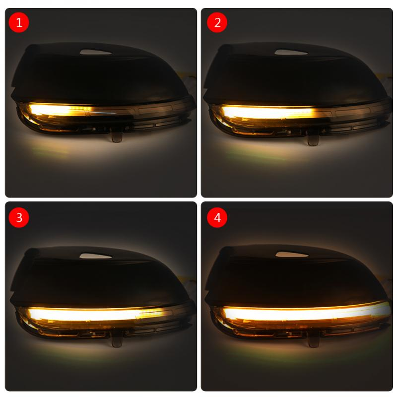 1pair Car Left/Right Side LED Flowing Rearview Mirror Turn Signal Light for VW Passat Jetta E0S CC Beetle wisengear led turn signal corner light lamp door rearview mirror cover cap for volkswagen vw beetle cc passat b7 jetta mk6 eos