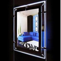 (1 блок/столбик) A3 односторонний светодиодный дисплей s светильник карман, кабельные дисплеи для подвешивания вывесок и объявлений