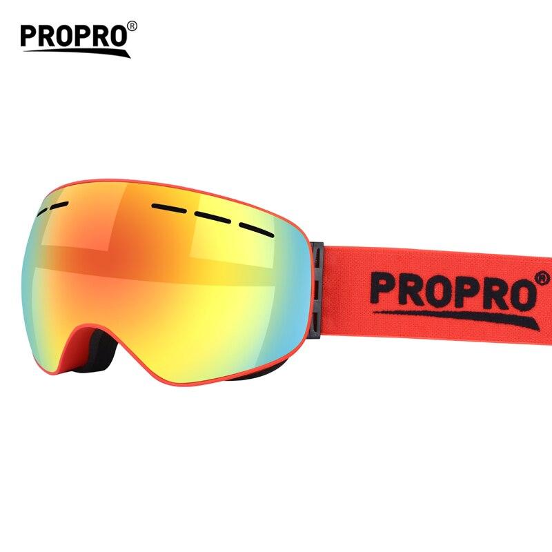 ПроПро сферические лыжные очки двойные слои Анти-туман большой Лыжная маска Очки может wwear близорукость лыжные оборудовать Для мужчин t очк...