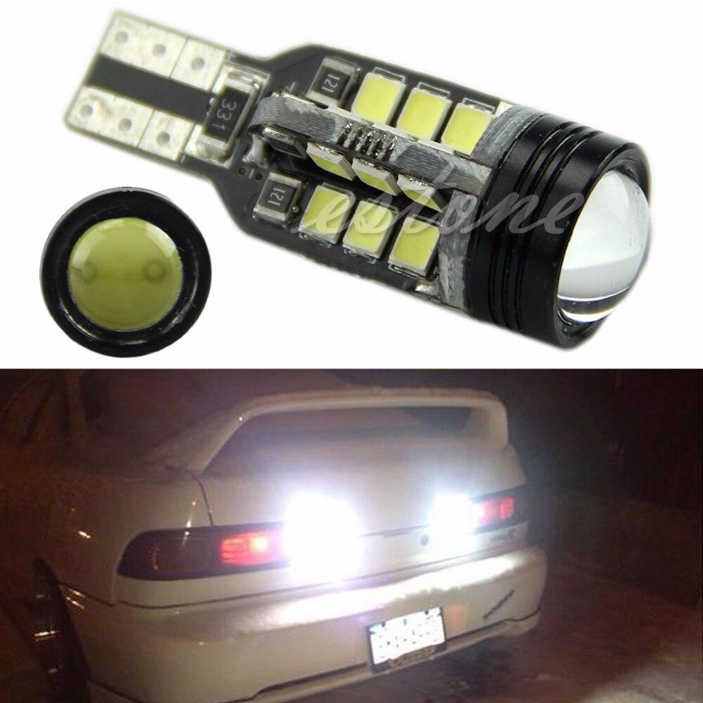 NEW T15 921 W16W Wedge Super White 24-SMD 2835 LED Backup Reverse Lights 6000K C45 2835 chipset 800 lumens canbus error free smd led bulbs for car reverse backup brake tail lights 921 912 t15 6000k xenon white