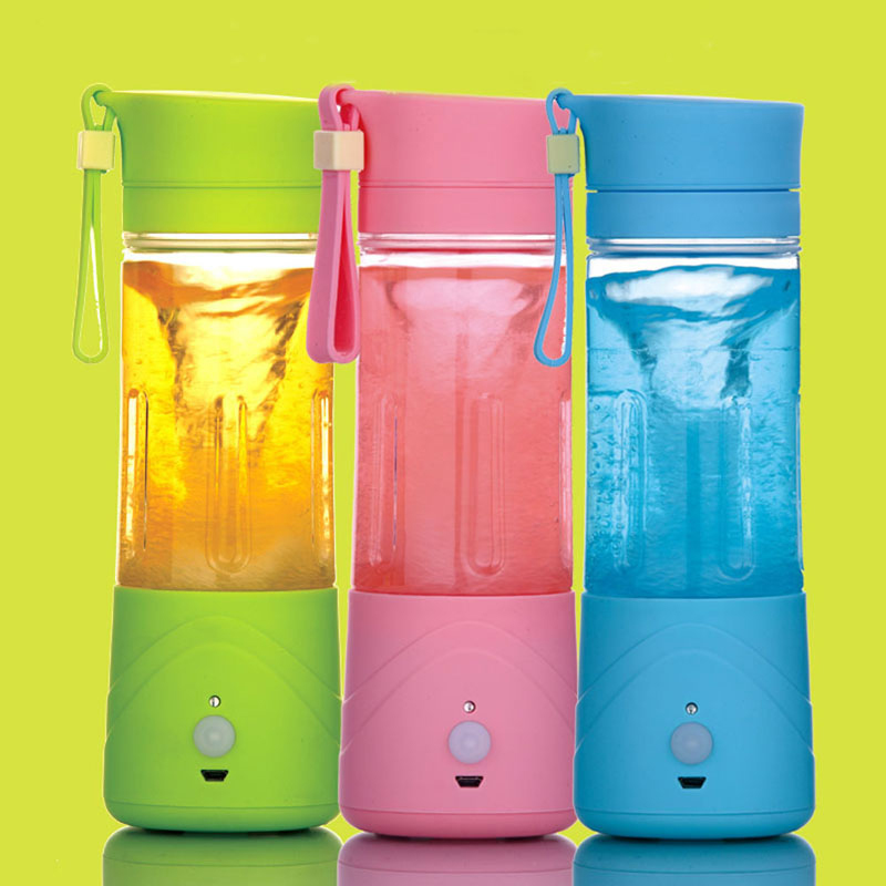 3 Colors Mini Multifunction Portable USB Electric Fruit Juicer Smoothie Maker Blender Rechargeable Green Hot Sale #84629