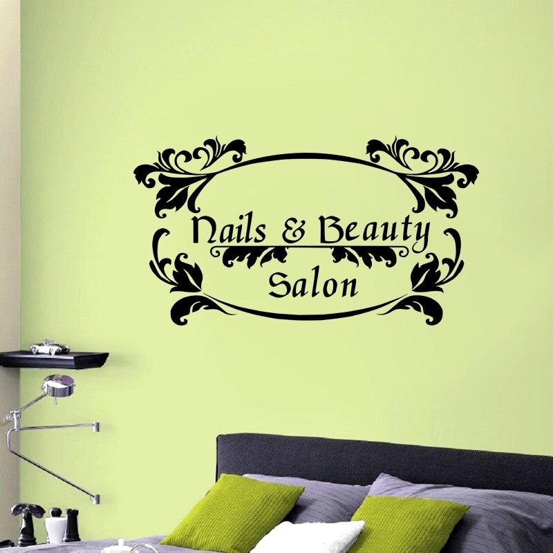 DCTAL Nail Beauty Name Salon Sticker Beauty Salon Decal Haircut ...