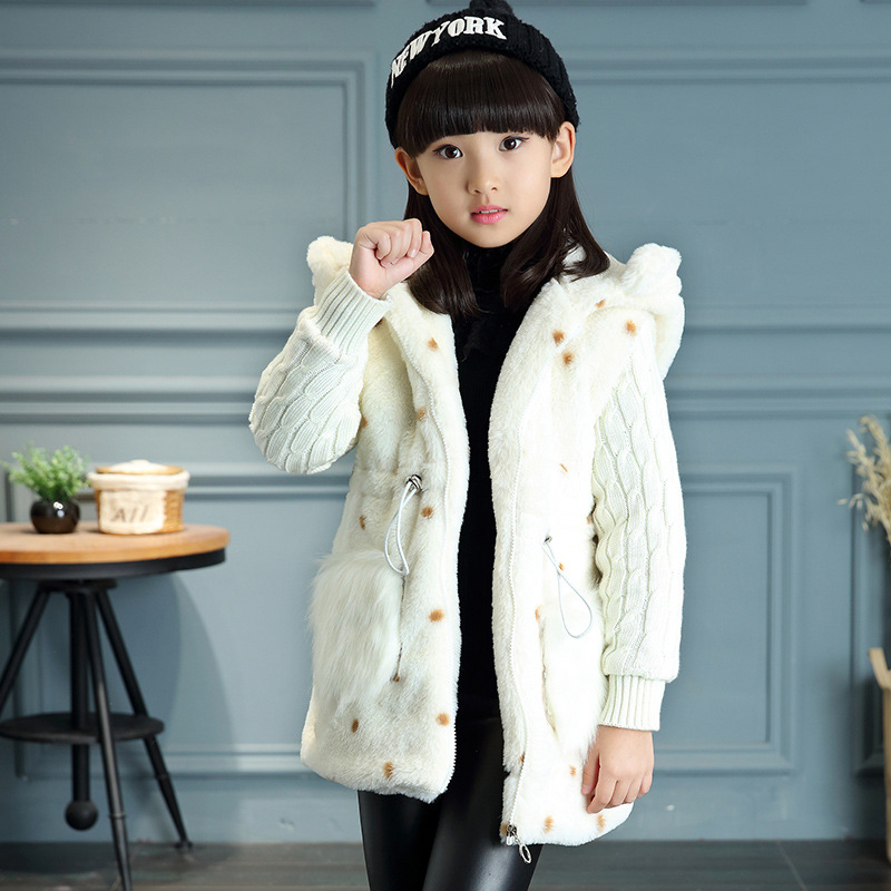 ee24ac7f81bf Autumn Winter Jacket For Girls 3 4 5 6 7 8 9 10 11 12 Years Warm ...