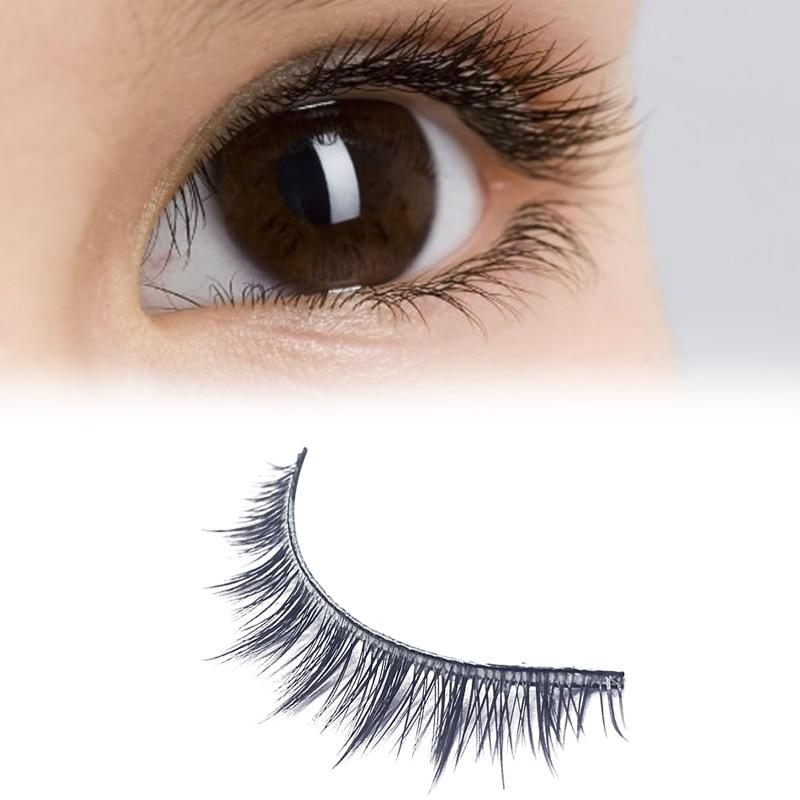 5 Pairs 3D Mink eyelashes Natural Short Cross False ...