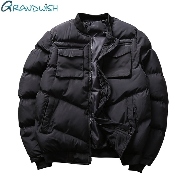 Flash Sale Grandwish  Brand Winter Men Casual Jacket  Stand Collar Warm Coats for Man Plus Size Male  Winter Clothing Outwear Parka , ZA068