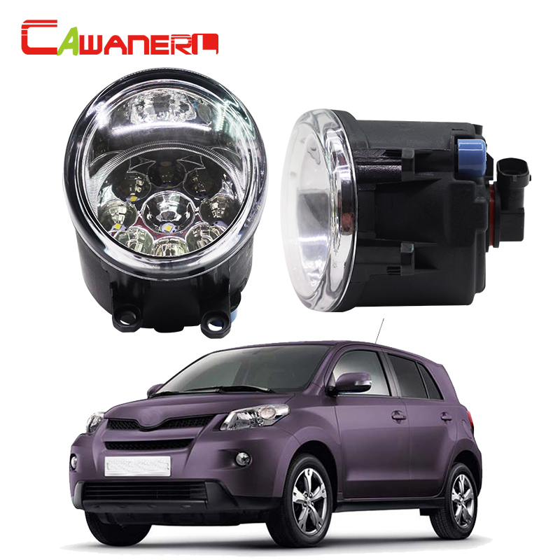 Cawanerl 2 x H11 H8 Car LED Light Daytime Running Light Fog Light DRL White Blue Orange For Toyota Urban Cruiser Hatchback 2009- cawanerl h8 h11 auto fog light drl daytime running light car led lamp bulb for toyota prius hatchback zvw3 1 8 hybrid 2009