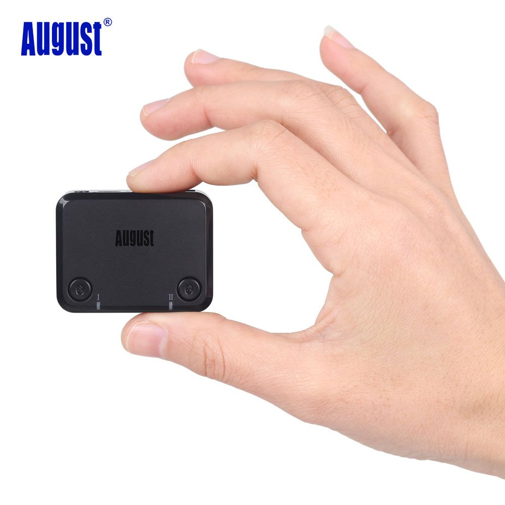 August aptX LOW LATENCY Optical Audio Bluetooth Transmitter for Dual Headphones Speakers for TV Wireless Audio Adapter MR270 august mr230 aptx low latency wireless bluetooth 4 2 audio receiver 3 5mm aux bluetooth audio receiver adapter for car speakers