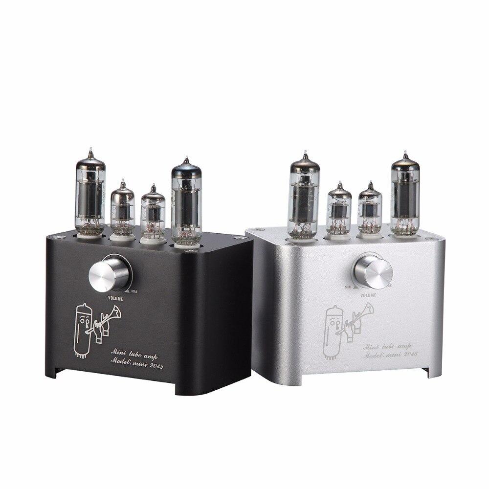 APPJ Mini2013 2018 6J1+6P1 Vacuum Tube Amplifier Home HIFI Audio Digital Power AMP 2016 brand new appj pa1601a 6j1 6p4 hifi wifi vacuum tube amplifier desktop digital audio tube amp hi fi lossless music player