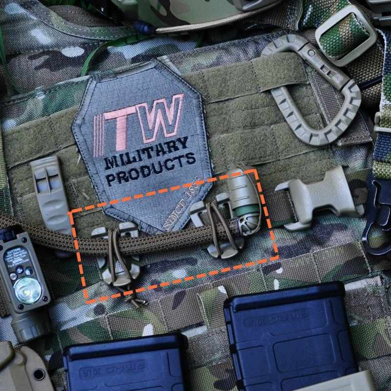 3X Backpack Carabiner KeyRing Tactical Hook Outdoor survival Pocket ToolsJC