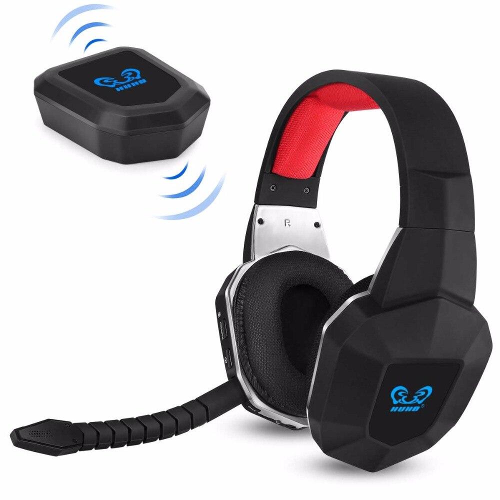 HUHD HW-N9 7.1 Surround Sound Stereo Auricolare Senza Fili di Gioco Cuffie per PS4/PS3 PC XBox One 360 con Cancellazione del Rumore microfono