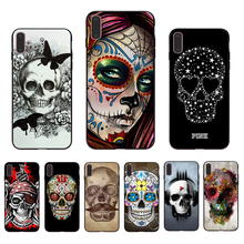 лучшая цена IMIDO Grim Reaper Skull Skeleton Capa design black silicone case For iPhone Apple 5 6 7 8  5/6s X XS XR XSmax 6/6S/7/8plus shell