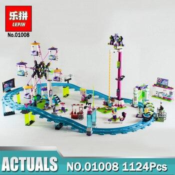 Lepin 01008 Amusement Park Roller Coast Mini Bricks Set fit for Legoing Friends Series 3D Building Blocks Toys For Children