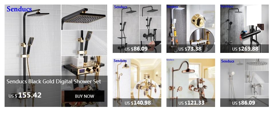 HTB1l5yIhe3tHKVjSZSg7604QFXaU Senducs Digital Bathroom Shower Set Fashion White Gold Shower Series Quality Brass Bath Shower Faucet Temperature Shower Set