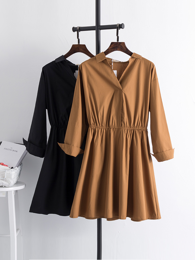 Fat sister plus fat size dress women s dress autumn and winter gas 200 pounds extra