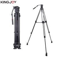 KINGJOY Official VT 3500+VT 3530 Professional Video Camera Tripod Stand Holder Stable Fluid Damping Tripod Kit For All Models
