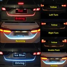 Ice Синий Красный Желтый белый задний багажник задний фонарь Светодиодные полосы освещения динамический стример тормозной сигнал поворота реверсветодио дный с Предупреждение ющий свет