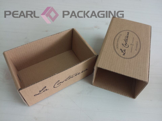 Corrugated Puller Box For Bow Tie Packaging, Customized Natural Brown Kraft Bowtie  Box Drawer Style