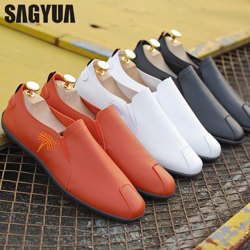 SAGYUA TOP Male Fashion Spring Summer Casual Loafers Hombre Men - Men's Shoes