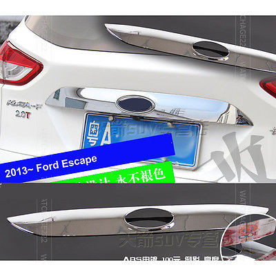 ФОТО FOR FORD ESCAPE KUGA 2013 2014 REAR TRUNK HATCH HANDLE CHROME TRIM COVER MOLDING