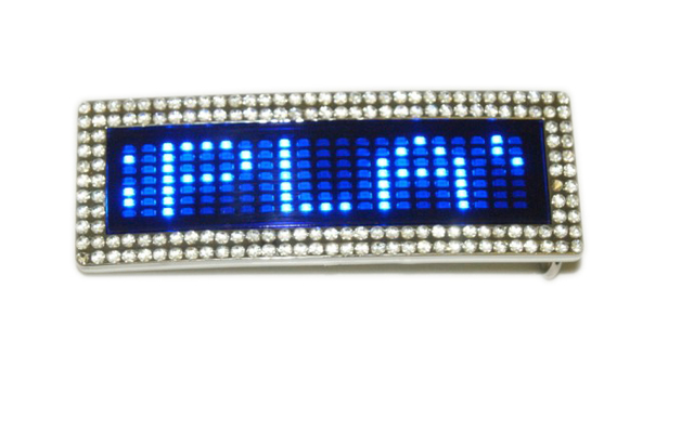 5pcs Red&Blue Flashlight Cool Phrase Scrolling LED Belt Buckle Free Shipping