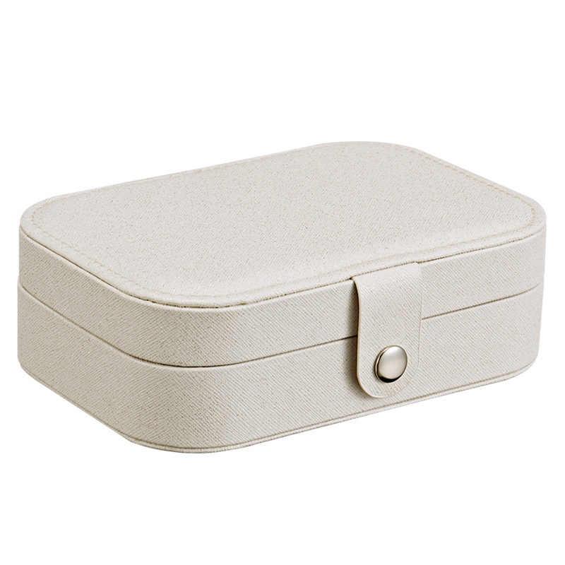 Корейский стиль свежие и простые серьги для молодой женщины тарелка коробка ювелирных изделий переносной серьги из кожи кольцо многофункциональная коробка для хранения ювелирных изделий