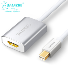 SAMZHE New Mini DP to HDMI Adapter White Color Video Cable For Macbook computer Switch Cable 20cm Mini DP Cable 1080P display