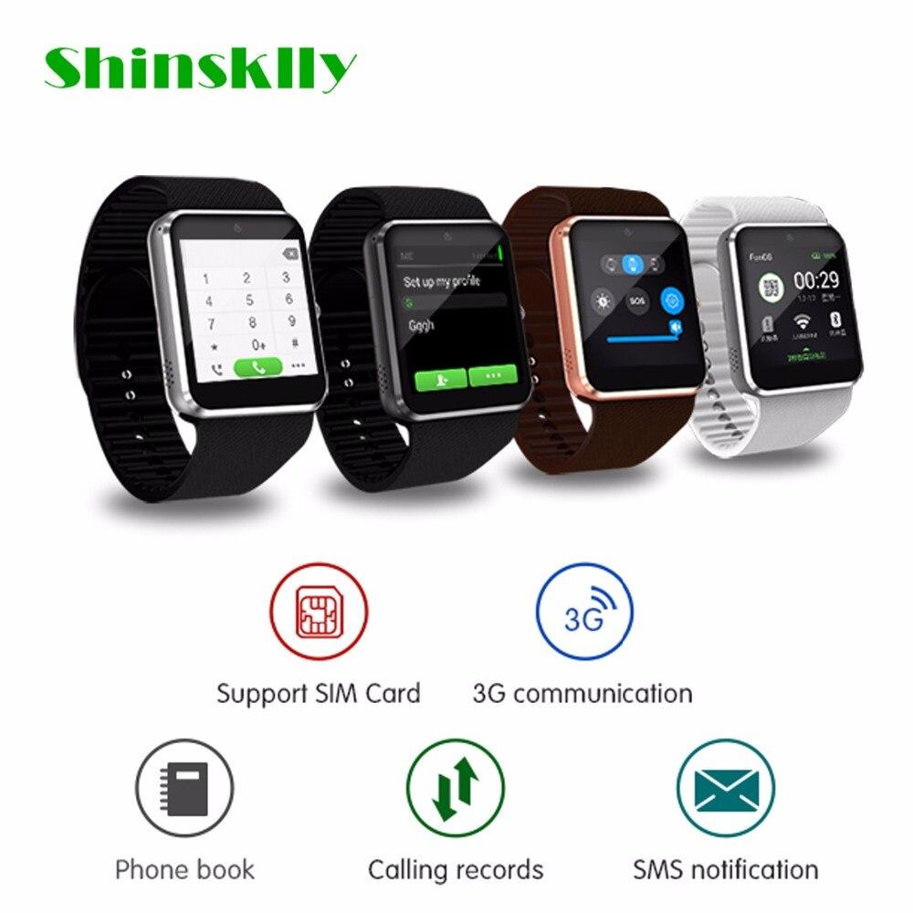 QW08 Bluetooth Smart Watch 1.54 pouces Prend En Charge Carte SIM Appels de Rappel pour Android 3G WiFi Caméra Fitness Tracker
