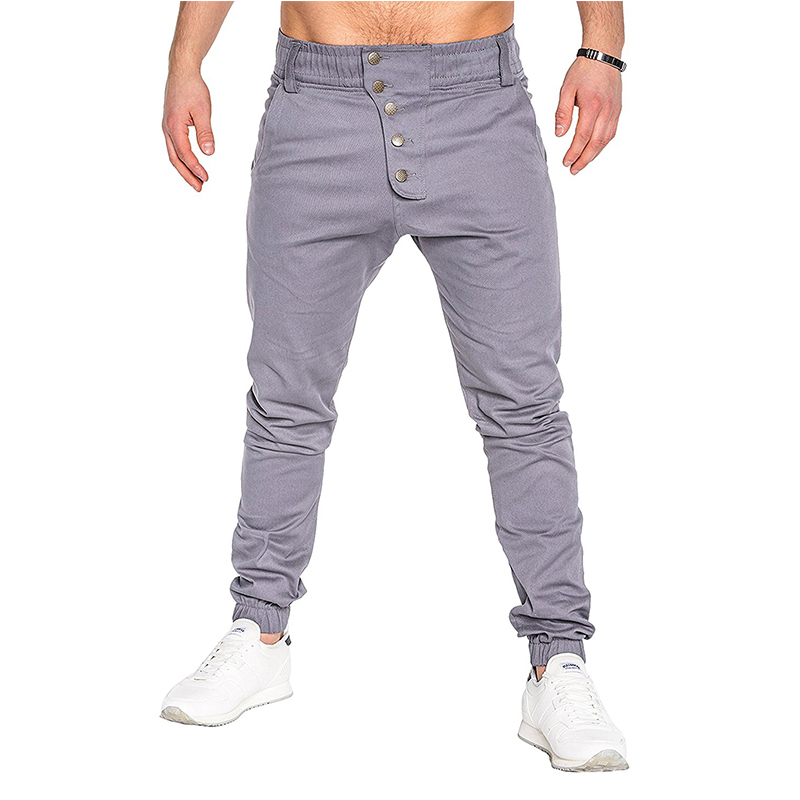 Pants Trousers Drawstring Men's Large-Size Men Fashion Casual New Button Lounge M-3XL