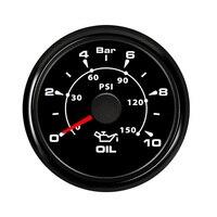 52 mm Marine Oil Pressure Meter Gauge Measure Oil Press Indicator for Car Boat Engine Auto Motorcycle 8 color Backlight 12V 24V