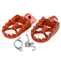 Motorcycle 57mm Billet Wide Footrests Foot Pegs For KTM 50 125 250 300 350 400 500