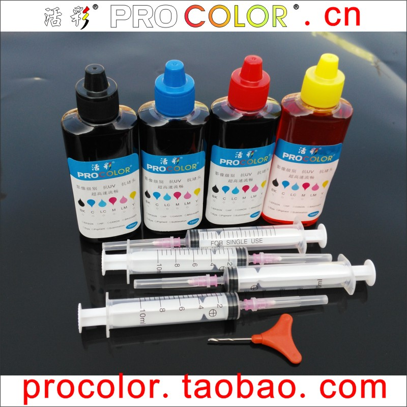 CISS Dye ink refill kits tool for HP301 HP 301 Deskjet 1010 1510 2510 2540 2050S 3055a 3050 <font><b>3052</b></font> 3540 inkjet cartridge printer image