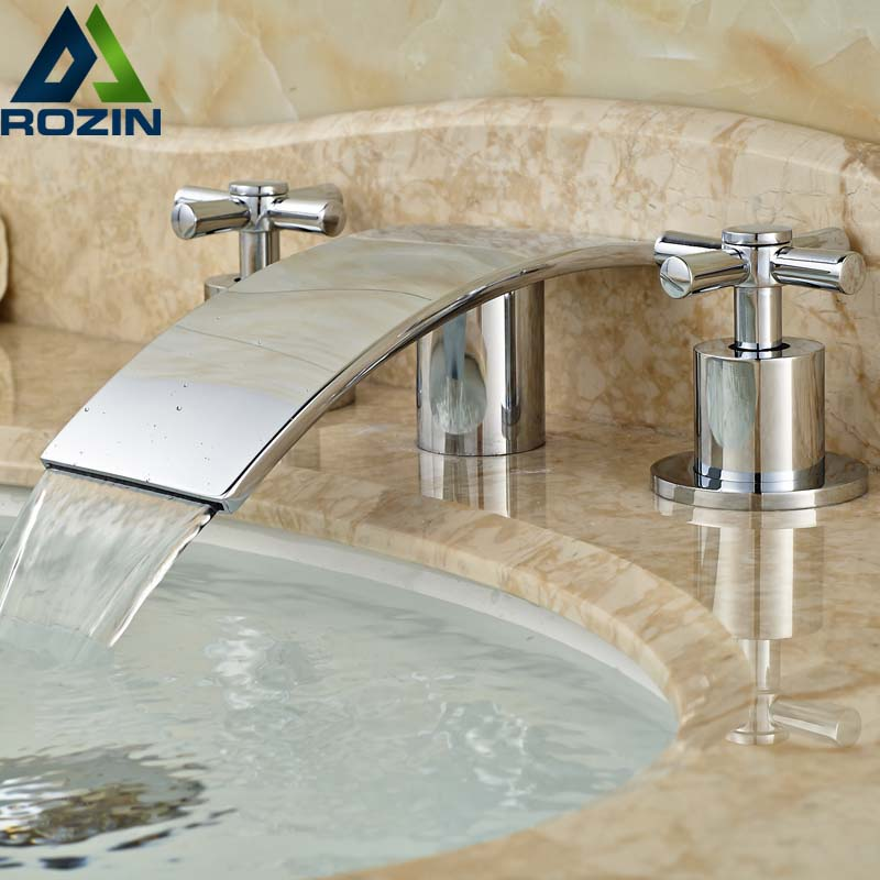 Cross Head Handle Bath House Basin Water Faucet Ceramic Valve Polished Chrome Lavatory Mixer Taps 1 2 built side inlet floating ball valve automatic water level control valve for water tank f water tank water tower