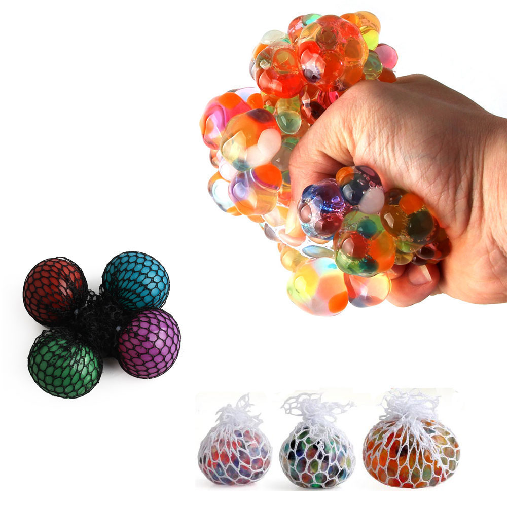 Cute Anti Stress Face Reliever Grape Ball Autism Mood Squeeze Relief Healthy Toy Vent Toy Extruded Discoloration Creative Gifts
