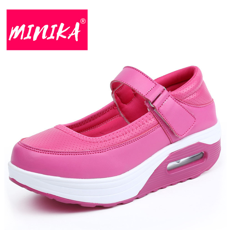 MINIKA Buckle Design Women Flat Shoes Big Size Women Leather Shoes 35-41 Solid Colors Easy Wear Off Shallow Women Casual Shoes minika soft