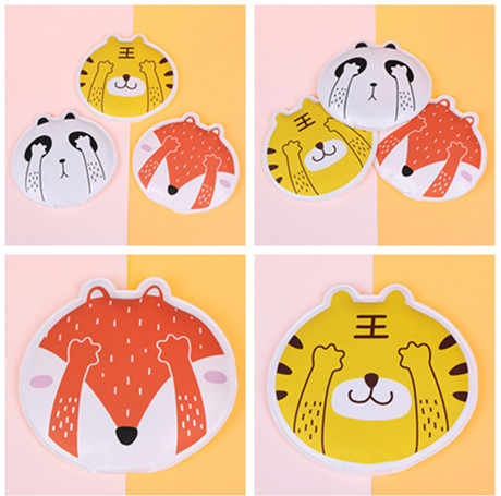 Cute Animal Style  Portable Warmth Supplies Gel Hand Warmers Reusable Self-Heating Hot Bag For DropShipping