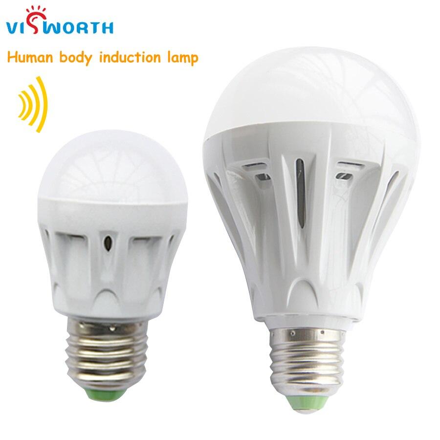 e27 LED PIR Infrared body sensor light 3w 5w 7w 9w smd2835 12pcs 25pcs led lamp energy-saving led bulbs ac 110v 220v 230v 240v e27 led lamp bulbs 100v 240v white warm light energy saving bright 4 kind