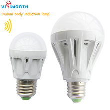 e27 LED PIR Infrared body sensor light 3w 5w 7w 9w smd2835 12pcs 25pcs led lamp energy-saving led bulbs ac 110v 220v 230v 240v