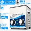 Granbo портативный ультразвуковой очиститель ювелирных изделий 2L 120 Вт машина для чистки ванны с нагревателем таймер для чистки ювелирных очк...