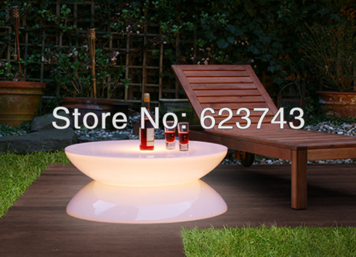 Free Shipping Led Illuminated Furniture,Lounge LED,waterproof Led Table,led Coffee Table Rechargeable For Bars,Christmas BY EMS