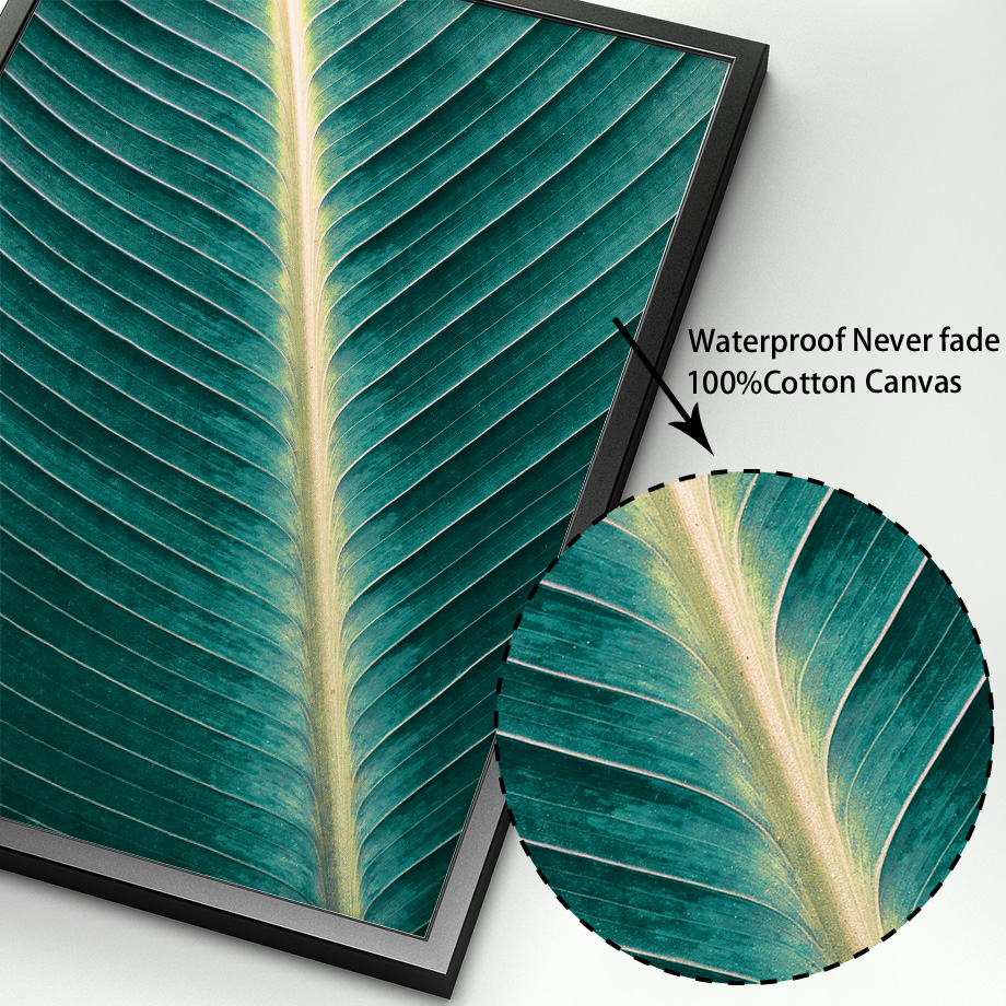 Image 4 - Green Plant banana Leaves Door Landscape Nordic Posters and Prints Wall Art Canvas Painting Wall Pictures For Living Room Decor-in Painting & Calligraphy from Home & Garden