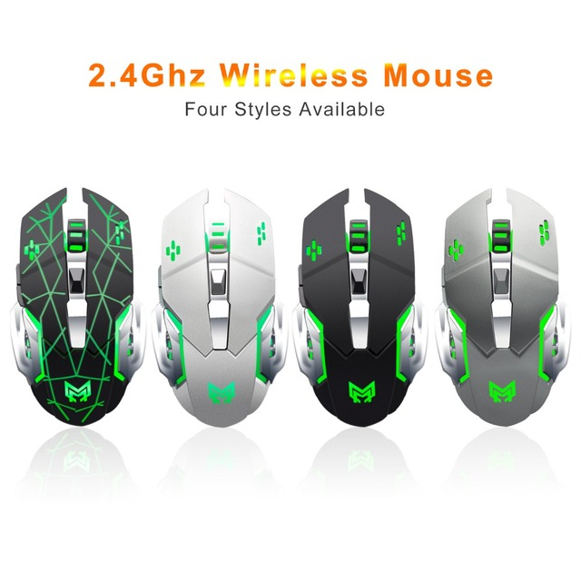 Anmck Wireless Rechargeable Gaming Mouse 2.4Ghz Optical RGB Ergonomic Gamer Protable 1