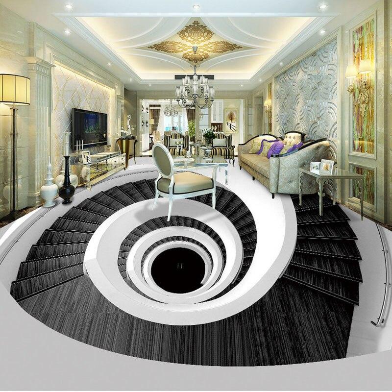 Modern Black White Art Photo Wallpaper 3d Floor Painting