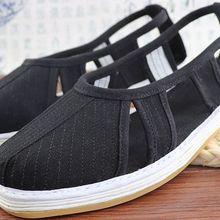 Размеры 35-EU46, многослойная хлопковая Летняя обувь ручной работы в стиле монах «шаолин», сандалии «Лохан»/«Архат», «Холодное сердце», серый/коричневый/синий/черный