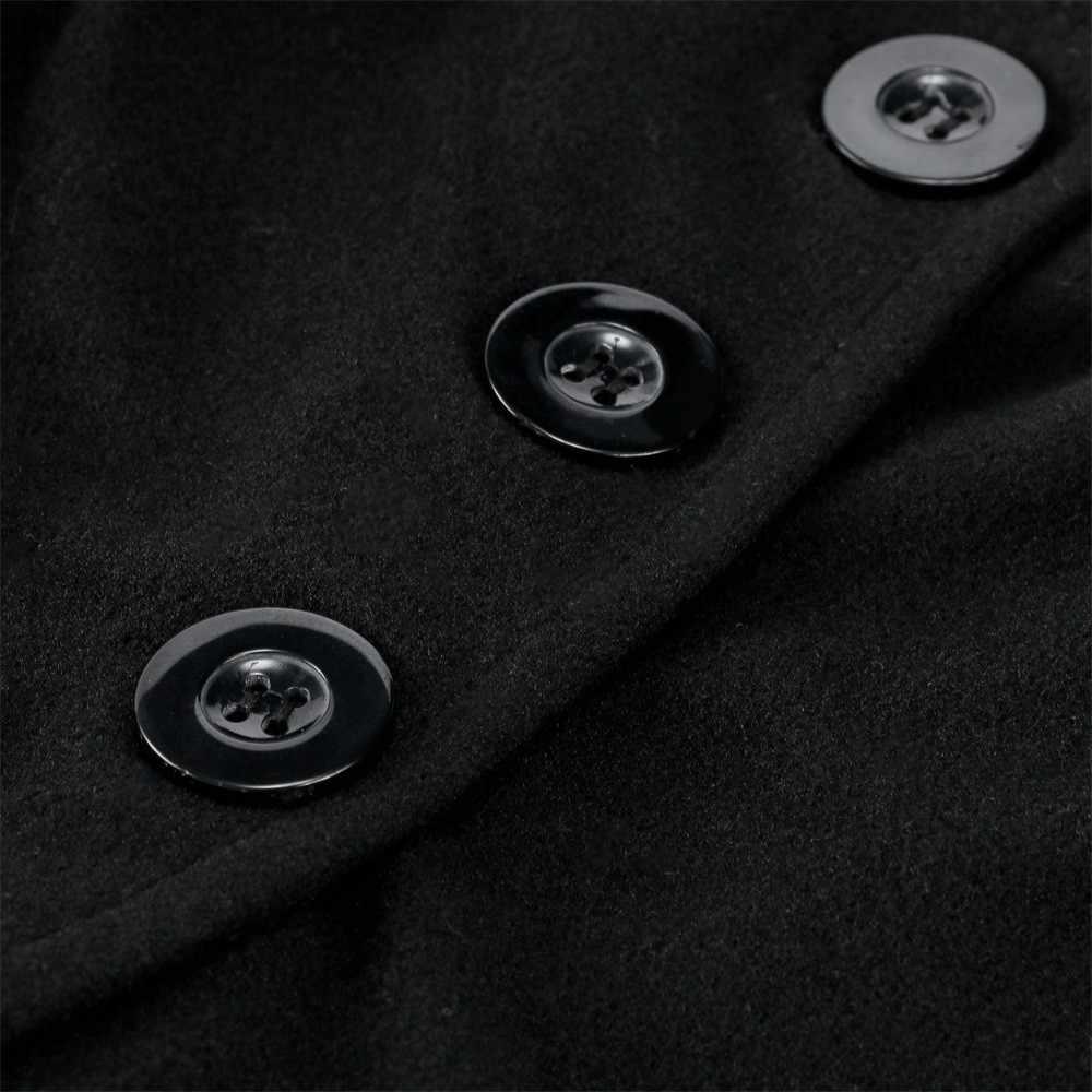 2018 Herfst Vrouwen Jas Mode Stevige Mantel Knop Lange Cape Jas Sjaal Windjack Dames Winter Poncho Overjas Plus Size 5XL