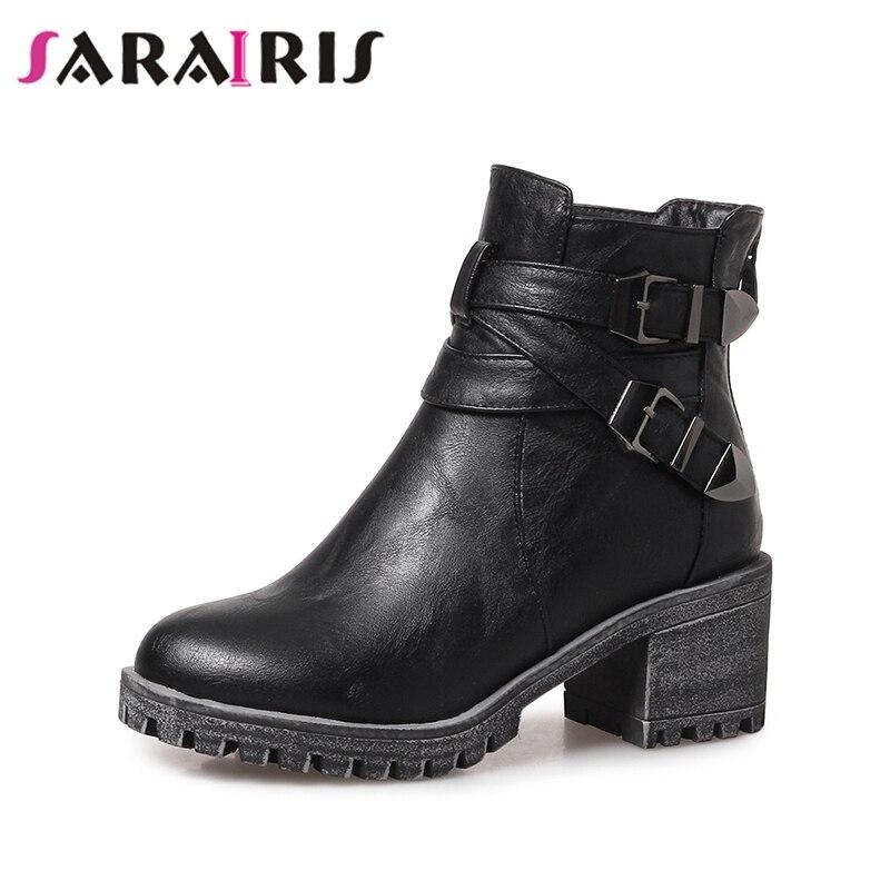 43 Gran 2019 Martin De Mujer Negro Tobillo Punk Moda 31 Invierno Dropship  gris Tamaño Zapatos Sarairis Estilo ... d72393c2464c
