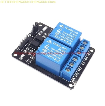 Free Shipping  2-channel New 2 channel relay module relay expansion board 5V low level triggered 2-way relay module free shipping new 2mbi600vn 120 50 module page 9