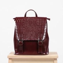 Новые винтажные роскошные женские кожаный рюкзак небольшой Bagpack крокодил узор школьные сумки для подростков рюкзак Mochila Feminina