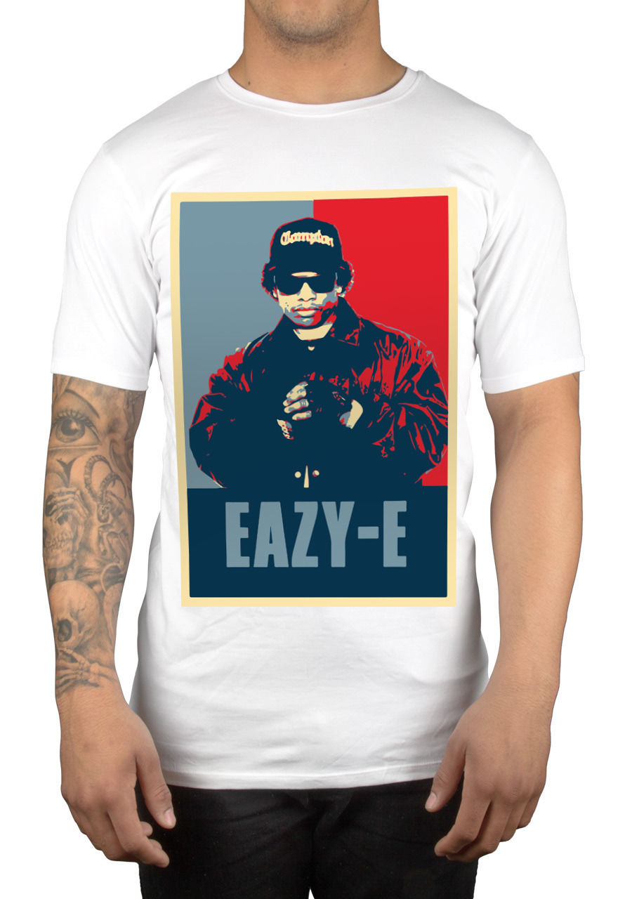 Eazy E Graphic T-Shirt Straight Outta Boyz N Tha Hood Ice Cube Dr Dre Casual Short Sleeve T Shirt Novelty Tops Men T Shirt ...