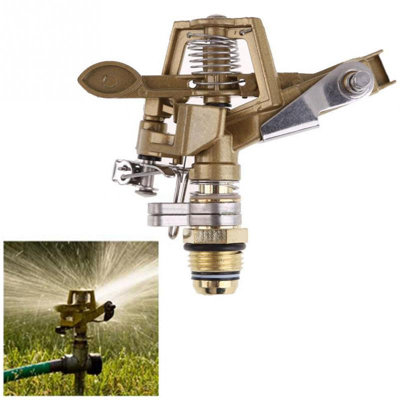 360 Degree 1/4 Inch Connector Copper Rotate Rocker Arm Water Sprinkler Spray Nozzle Garden Irrigation Sprinkler Drop shipping